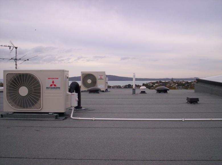 warmtepompen op dak