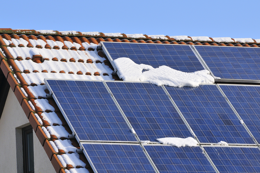zonnepanelen in winter