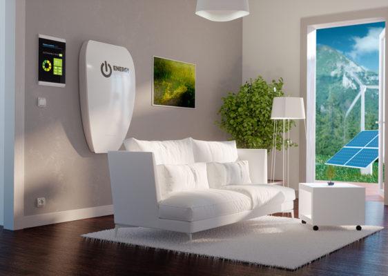 Thuisbatterij woonkamer