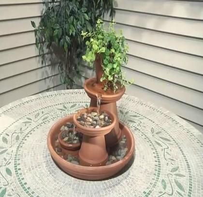 tafelwaterval van potten